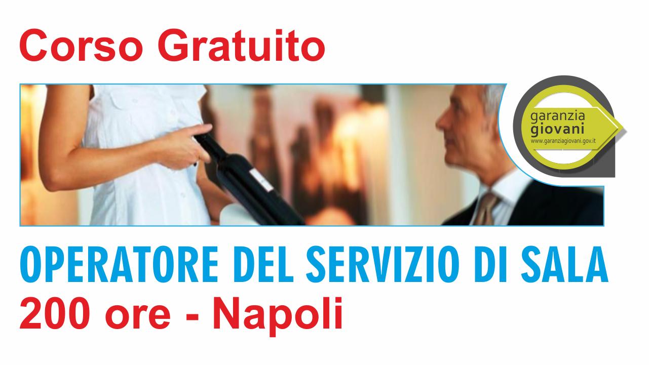 Corso gratuito come operatore di sala a Napoli 200 ore