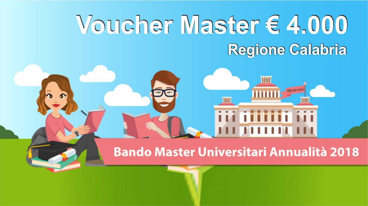 voucher Master 2018 Regione Calabria